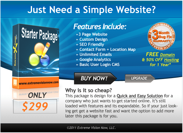 Budget Web Design Packages Prices Cost