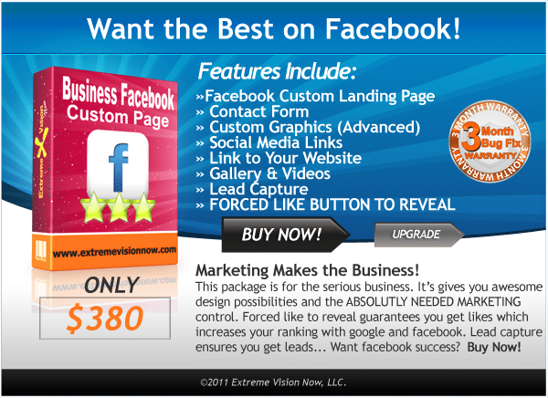 Business Facebook Web Design Packages Price