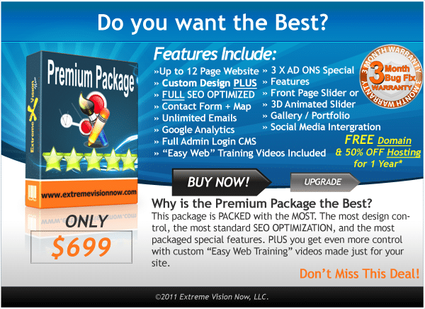 Premium Web Design Packages - Prices Cost