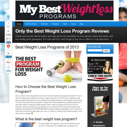My Best Weight Loss Programs
